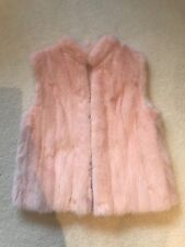 Mink Fur Gilet Colour: Baby Pink. Size: 8UK