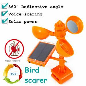 Ultrasonic Solar PIR Sensor Repeller Bird Pigeon Crow Scarer Deterrent Repellent