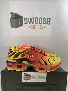 Nike Air Max Plus (GS) QS Womens size 6.5 Shoes CT0962 700 Orange Fire Size 5Y
