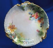 HAND-PAINTED LIMOGES LIFE LIKE RASPBERRIES CHARGER