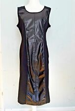 Womens Alfani Black Sheath with Leather Dress Career Work Office Dress Size 10
