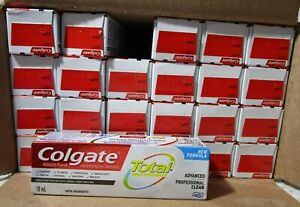 NEW Colgate Total Advanced Professional Clean Toothpaste 18ml, 24-Pk EXP2022OCT