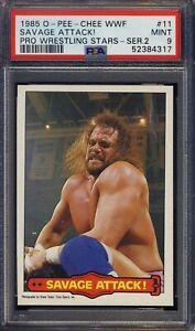 1985 O Pee Chee WWF Series 2 #11 Randy Macho Man Savage - Attack RC PSA 9 MINT