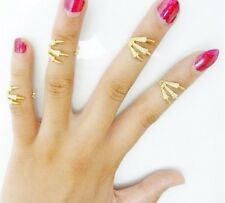 Adjustable Gold Eagle Claw Knucle Rings Set of 4 with Exquisite Gift Bag