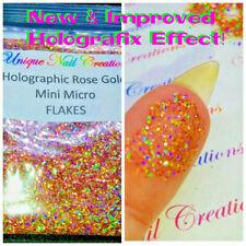 MINI MICRO FLAKES~Rose Gold Hologram~Solvent-Resistant-Polish-Acrylic/gel