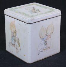 Vintage Hallmark Betsey Clark Collectible Hinged Lid Tin 1970s Deer Lambs Birds
