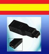 Adaptador Firewire de 6 pins 400 a 9 pins 800 conector iMac Macbook ilink IEEE