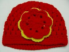 BonEful RTS NEW Boutique WINTER HAT Youth Lg Hipster Crochet RED Xmas Cable Knit