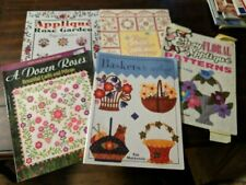 Lot of 5 Assorted Quilting and Applique Quilt Books - Floral Rose & Flower Theme