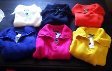 Lauren Ralph Lauren Pullover Sweater Royal Blue Yellow Orange Pink $115