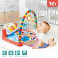 Baby Game Pad Music Pedal Piano Music Fitness Rack Crawling Mat W/ Hanging Toy