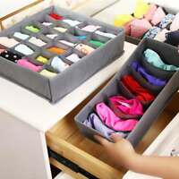 3PCS/Set Foldable Organizer Case For Ties Bra Underwear Socks Drawer Storage Box