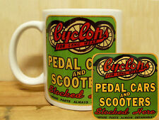300ml COFFEE MUG & COASTER SET - CYCLOPS PEDAL CARS AND SCOOTERS