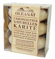 oleanat Beurre Karité Savon Barres 3 x 150g 100% légume à base de naturel