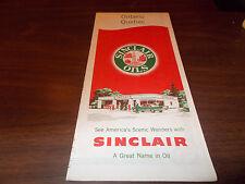 1957 Sinclair Ontario/Quebec Vintage Road Map