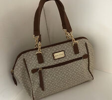 NEW ARRIVAL! TOMMY HILFIGER BROWN BOWLER GOLD CHAIN SATCHEL TOTE PURSE $89 SALE