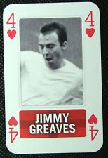 1 x playing card single swap England Football Jimmy Greaves 4 of Hearts