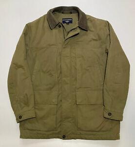 Dockers Men's Khaki Zip Up Jacket/Coat - Large