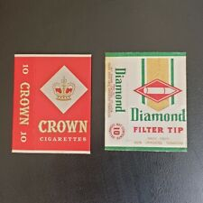 DIAMOND CROWN FUJI ST LUCIA CIGARETTE CARD PACKET TOBACCO PACK SLEEVES OVERSEAS