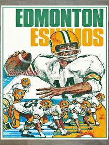 Vintage CFL Edmonton Eskimos Color Poster Print 8 X 10 REPRINT Photo Picture