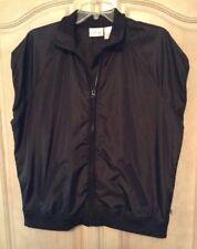 Chico's Zenergy Black Front Zip Cap Slv.Vest/jacket Size 2