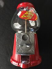 JELLY BELLY 10 Inch Jelly Bean Candy Dispenser Red Metal Gumball Machine Bank