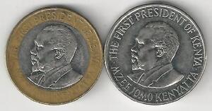 2 COINS from KENYA - 1 & 10 SHILLING (BOTH 2010)..10 SHILLING is BI-METAL