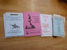 Konvolut (740 Gramm) mit Schachturnier-Programme aus Großbritanien ca. 1973-2000