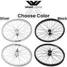 "Wheelmaster 20"" 3/8 Alloy Wheelset Front & Rear BMX Bike 20-inch wheels ISO 406"