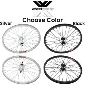 "Wheelmaster 20"" 3/8 Alloy Wheelset Front & Rear BMX Bike 20-inch wheels ISO 406"