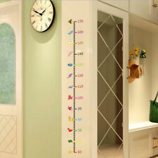 Removable Height Chart Measure Kids Room Decal Decor Undersea Wall sticker Mural