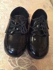 toddler black patent tip top brand dress oxford toddler shoes size 7