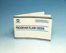 Minolta Anleitung Program Flash 3200i Manual De Instrucciones - (100389)