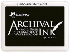 Ranger JET BLACK Ink Pad, Reinker Refill or Jumbo Archival Acid-free Waterproof