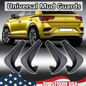 4PCS EVA Molded Universal Mud Flaps Splash Guards Mudflaps Mudgurads Fender US