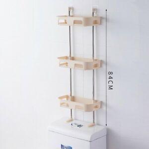 Wall Mounted Storage Rack Bathroom Holder Organizer Shelves Multi-Use Decor New