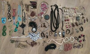 Job lot of Costume Jewellery - Watches Necklaces Earrings Mixed Bundle