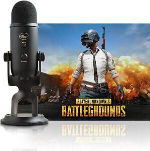 Blue Yeti Blackout Professional Multi-Pattern USB Microphone +Battlegrounds Game