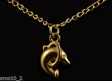 24k Gold Plated Dolphint Pendant On A Gold Plated Chain HCN063