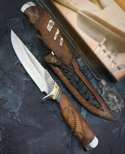 HANDCRAFTED KNIVES JAPANESE VG10 DAMASCUS HUNTING KNIFE SNAKESKIN EMAZING DEAL