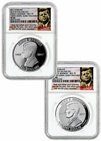 2-Coin Set 2017 Virgin Is Kennedy 1 oz Silver NGC PF69 ER Ask Not Label SKU47846