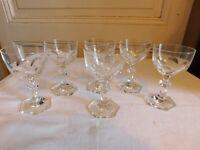 Villeroy & Boch Seis Pequeños Vasos de Vino Cristal Modelo Bernadotte Hr 10.8 CM