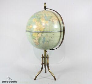 19th / 20th C. Tinplate & Brass Terrestrial Globe