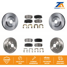 Front Rear Disc Brake Rotors And Ceramic Pads Kit Chevrolet Equinox GMC Terrain