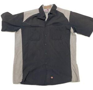 Motorsports Mechanic Auto Tech Shirt Red Kap Uniform Work Used Short Long Sleeve