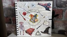 Harry Potter Dobby, Hogwarts Express inspired guestbook, photo album, scrapbook