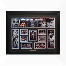 Floyd Mayweather vs Manny Pacquiao Framed Memorabilia - Black/Silver Edition