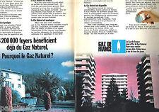 PUBLICITE ADVERTISING 085  1971  GAZ DE FRANCE (2p) le gaz naturel