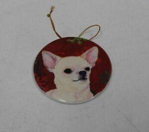 Caroline's Treasures SS4679-CO1 Chihuahua Red Snowflakes Christmas Ornamento