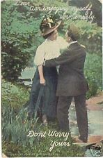 1908 Unused VINTAGE Postcard ~ Sweethearts